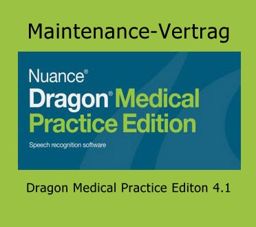 Maintenance-Vertrag für Dragon Medical Practice Editon 4.1