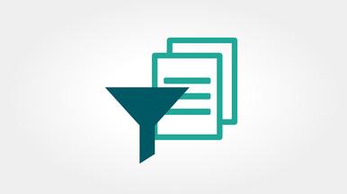 Individuelle Sortier- und Filteroptionen zur einfachen Dateiorganisation