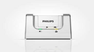 Dockingstation zur schnellen Batterieaufladung und freihändigen Aufnahme