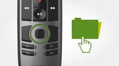 Touch-Sensor für die integrierte Mausfunktion