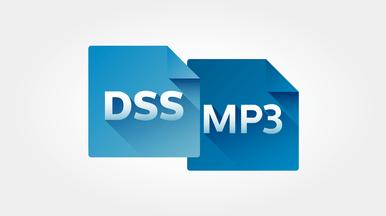 Ausgezeichnete Aufnahmequalität im DSS- und MP3-Format